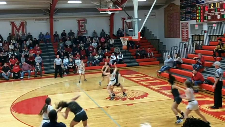Ohio student-athlete caught pulling the hair of an opponent during a girl's basketball game