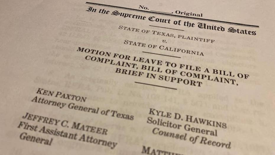 Texas Attorney General files lawsuit warning 'We are going to stop' California travel ban