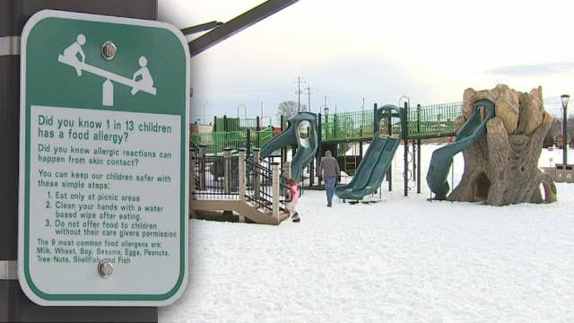 Push to make playgrounds safer for children with food allergies