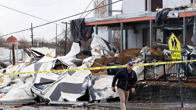 Rescue teams search for tornado victims in Tennessee