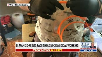 Florida man making 3D-printed face shields for health care workers
