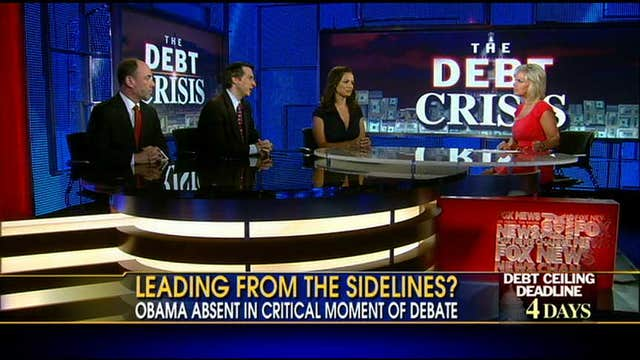 Is President Obama Taking a Back Seat in the Debt Debate?