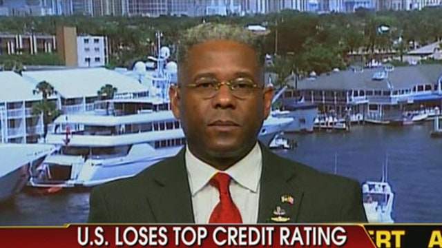 Allen West Reacts to Comments on Blaming Tea Party for U.S. Downgrade