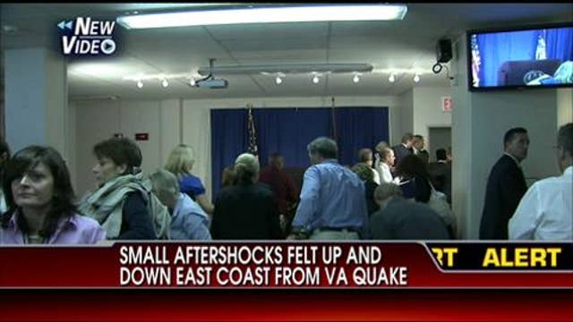 VIDEO: People Run Out of Dominique Strauss-Kahn Press Conference Because of Shaking From D.C. Earthquake