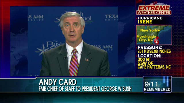 "Andy Card Talks on Acting as ""Buffer"" Between President and Secret Service on 9/11"