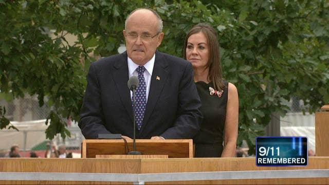 America's Mayor Rudy Giuliani Reflects on 9/11 Anniversary at Ground Zero