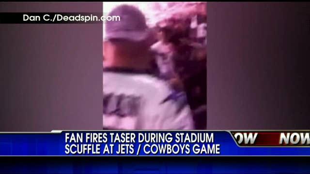 Dallas Cowboys Fan Uses Taser on Jets Fan at 9/11 Game