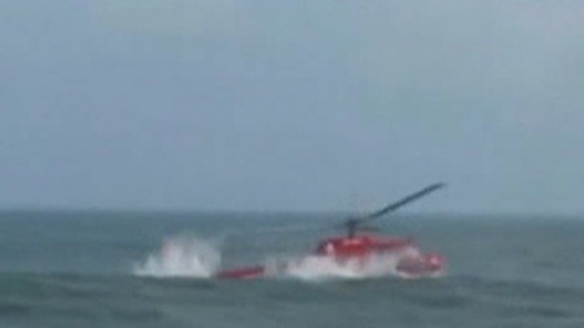 Around the World: Rough landing for rescue chopper
