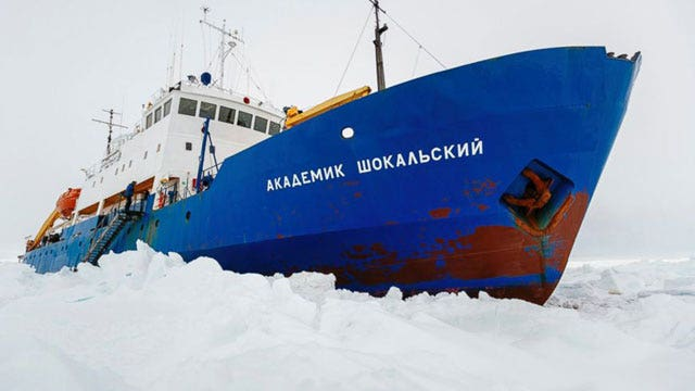 Antarctic expedition still trapped by ice