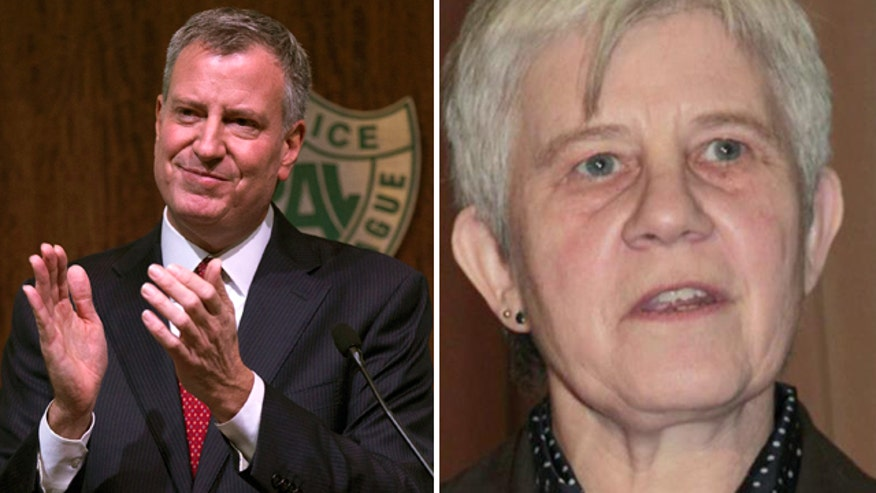 NYC mayor talks good will, being pro-police, but raises ire again by reappointing judge who freed men who threatened law enforcement