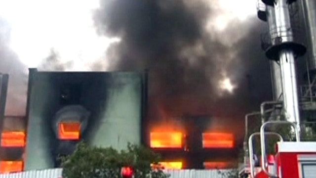 Around the World: Fire rips through leather factory in China