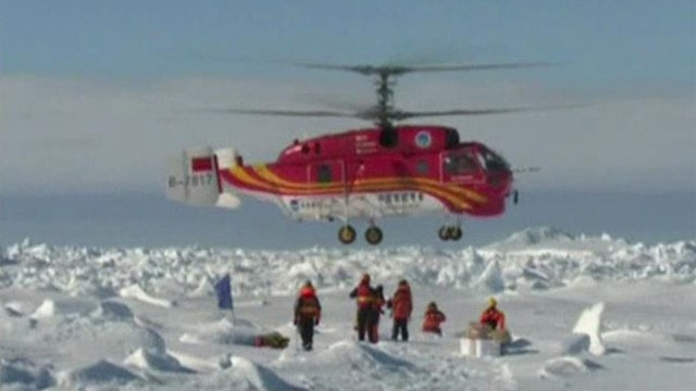 Another snag for crew of trapped research vessel