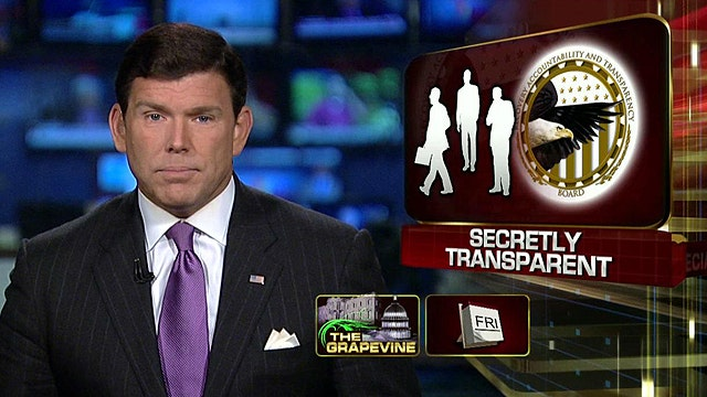 Grapevine: Transparency from Obama's transparency board?