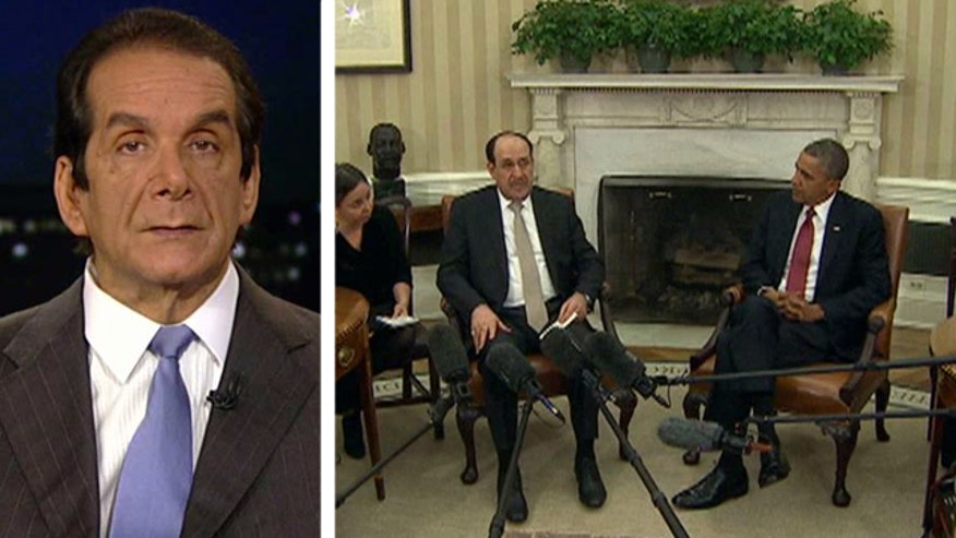 "Syndicated columnist Charles Krauthammer said Friday on ""Special Report with Bret Baier"" that President Obama has lost leverage with Iraqi Prime Minister Nouri al-Maliki."