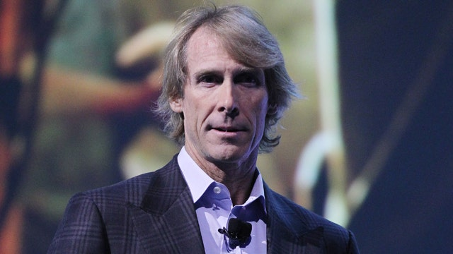 Michael Bay freezes on stage at Consumer Electronics Show
