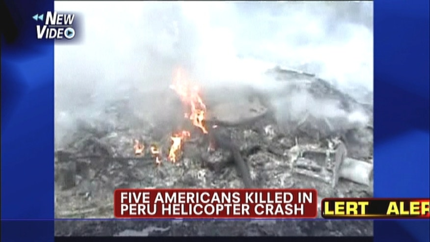 Five Americans killed after helicopter crashes in Peru.