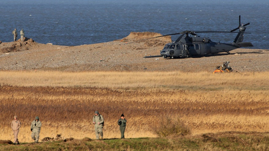 British officials say helicopter slammed into the ground