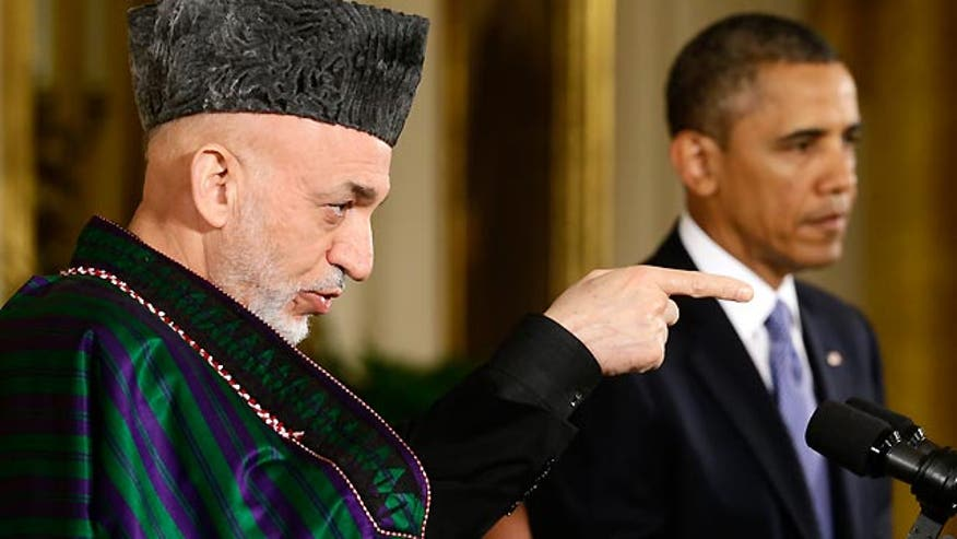 President holds news conference with Afghan President Karzai