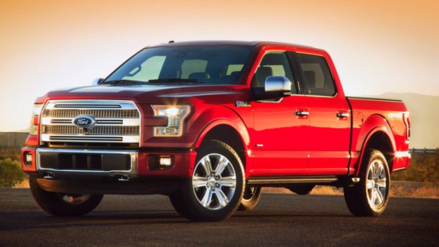 Ford Truck marketing manager Doug Scott introduces the radically reengineered 2015 Ford F-150