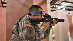 Laser tag is helping the country's armed forces keep their skills sharp.