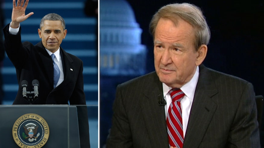 Pat Buchanan breaks down president's inaugural address, anlyzes whether Washington will be more divided than ever in his 2nd term