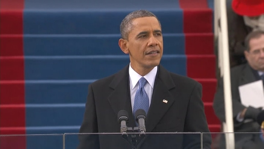 President Obama gives his second inauguration speech.