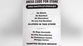 'Off the Record', 1/22/14: Hasidic Jewish shopkeeper puts up dress code sign for his business and is sued by NYC Commission on Human Rights