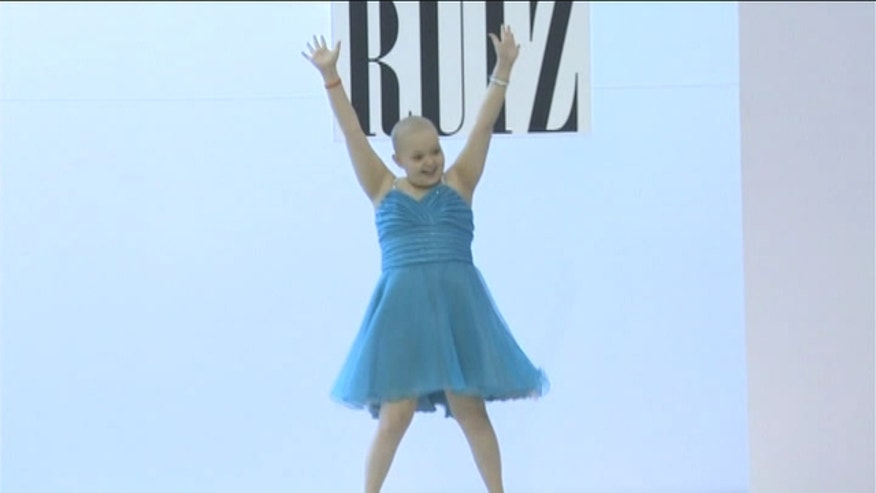A young girl battling cancer got to be a supermodel for a day.