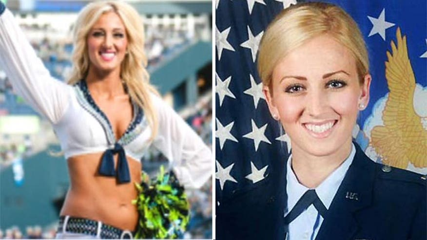 Alicia Quaco is also a U.S. Air Force lieutenant