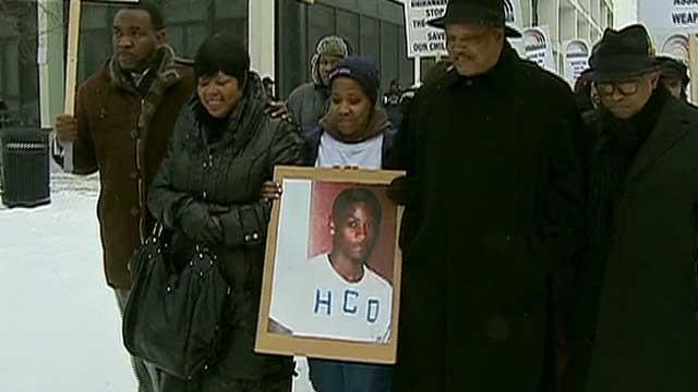 Demonstration against gun violence in Chicago