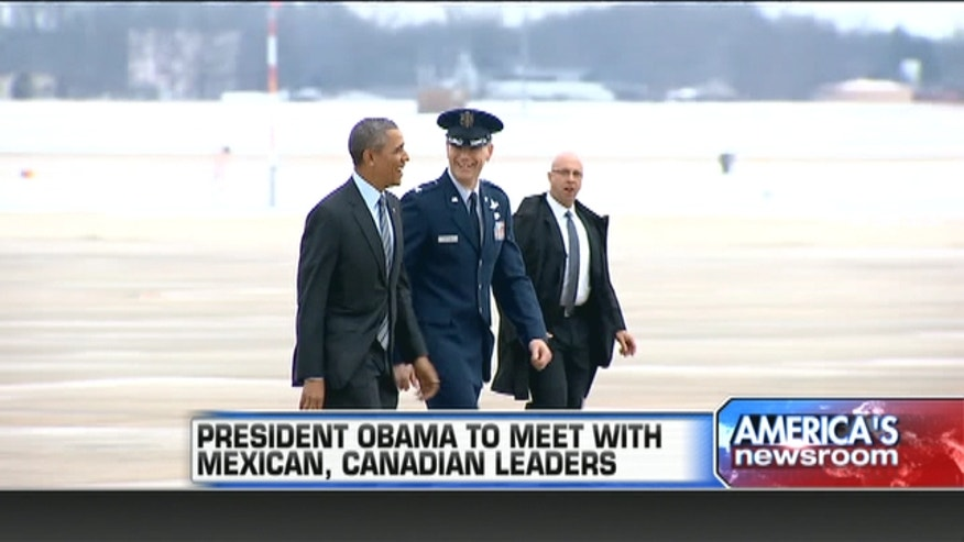 President Barack Obama heads into a summit with Mexican and Canadian leaders eager to engage on issues of trade and other neighbor-to-neighbor interests.