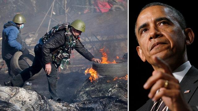Obama under pressure to wield more than 'rhetoric' in Ukraine crisis