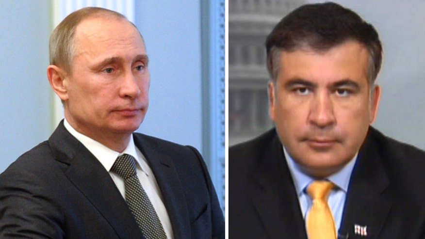 Former President of the Republic of Georgia Mikheil Saakashvili reacts to unrest in Ukraine and the increasing Russian aggression in the region