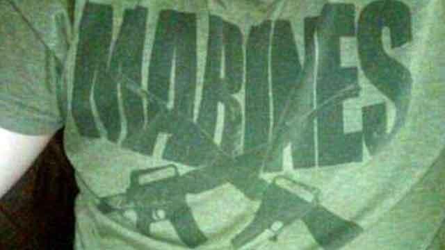 Marines t-shirt gets student suspension threat