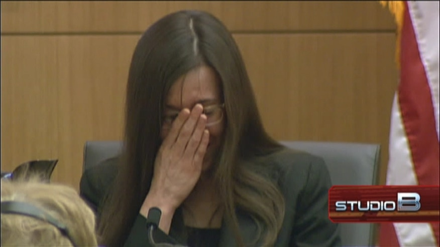 Jodi Arias weeps as testimony turns to killing of lover.