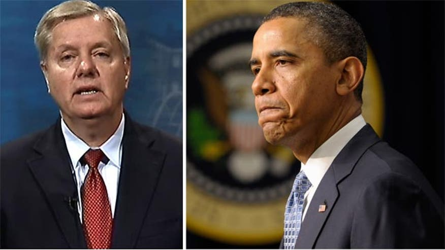 Sen. Lindsey Graham explains why he blames President Obama for Russia's aggression in the escalating tension in the Ukraine