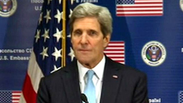 Kerry condemns Russia's 'act of aggression'