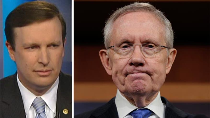 Sen. Chris Murphy goes 'On the Record' to set the record straight about the Senate Majority leader's controversial accusations against Americans suffering ill-effects from ObamaCare
