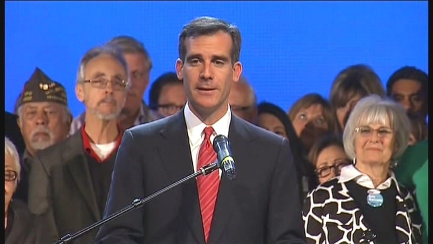 City Councilman Eric Garcetti topped the field in LA's election, carrying 33 percent of the vote.