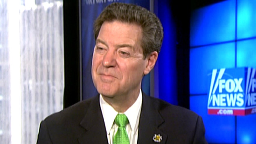 Governor Sam Brownback on the economic solution improving his state