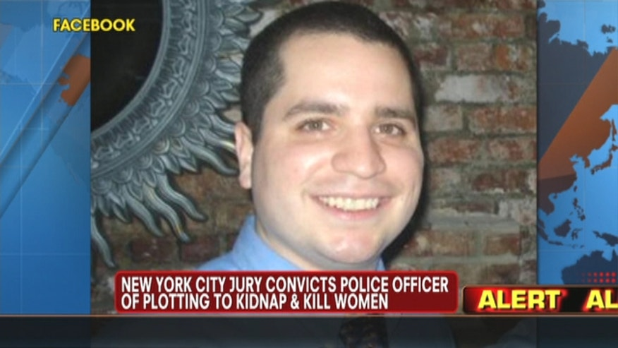 A former New York City police officer was convicted of conspiracy in a plot to kidnap, cook and eat women.