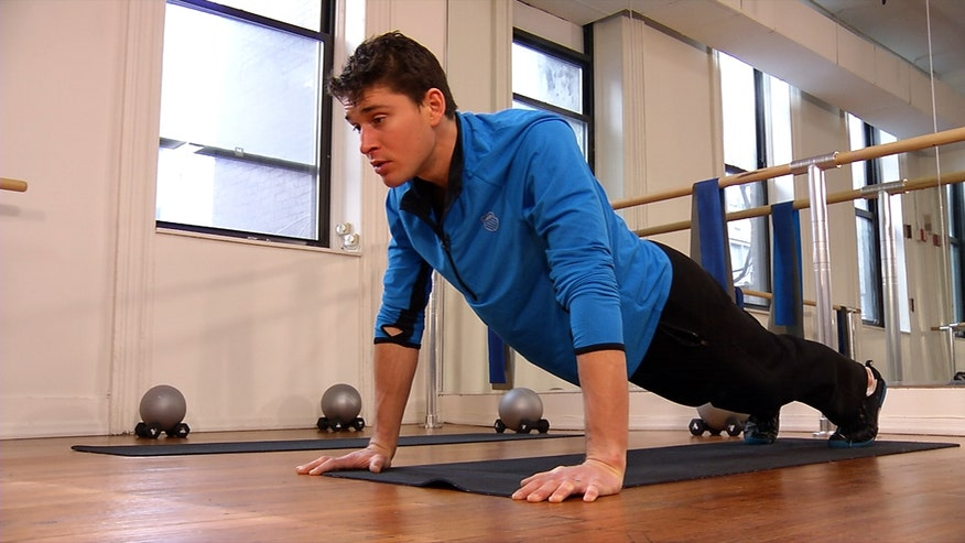 Ben Greenfield shows how you can do basic workout moves correctly.