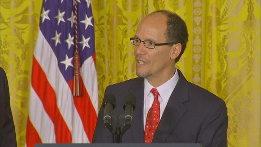 President Barack Obama has chosen Thomas Perez, a top Justice Department official, to be the next secretary of labor.