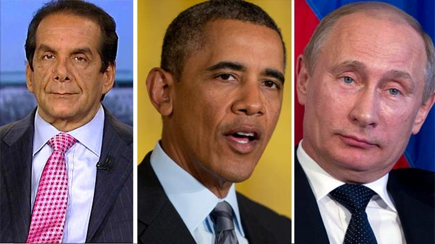 "Syndicated columnist Charles Krauthammer said Tuesday on ""Special Report with Bret Baier"" that the sanctions the United States has imposed against Russia for its annexation of Crimea rightfully have earned mockery from Russian officials."