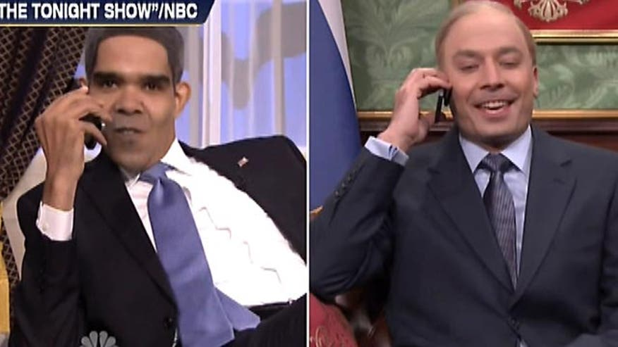 'Off the Record', 3/20/14: When Jimmy Fallon takes shots over ObamaCare and the handling of Putin and the Ukraine crisis, you know the president's stature is diminishing