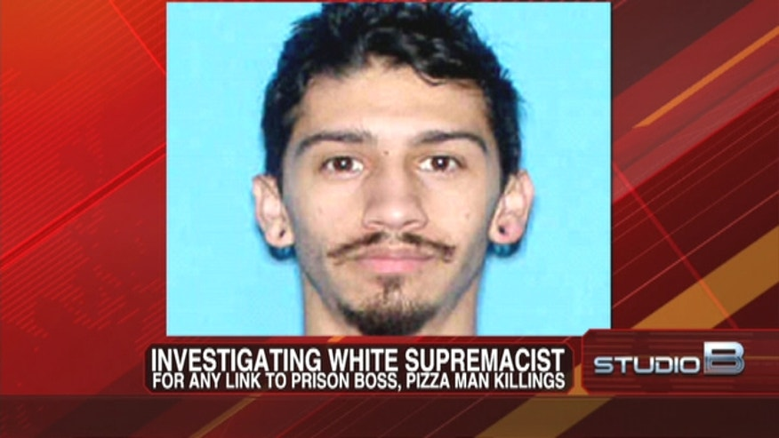 White supremacist wanted in the killing of Colorado's prison chief may have also slain a pizza delivery man.
