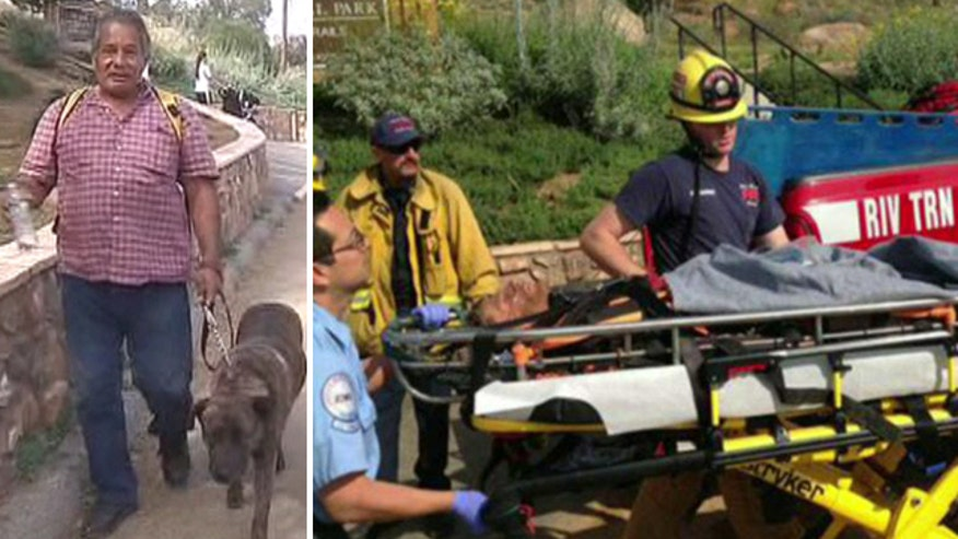 Happy ending for man who fell under rocks in Southern California
