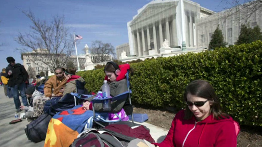 Placeholders charging $50 an hour for a chance to watch Supreme Court take up same-sex marriage