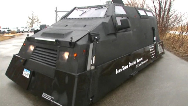 Armored High Tech Vehicle Helps Keep Storm Chasers Safe