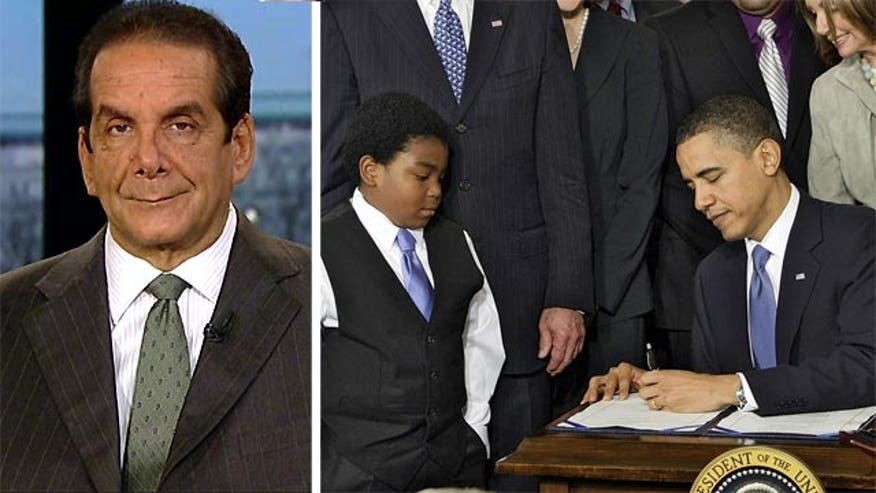 Fox News Contributor Charles Krauthammer questioned rather President Obama's healthcare reform bill was worth the price.